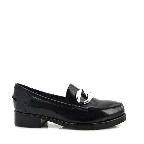 Jeffrey Campbell Shoes - Jeffrey Campbell Adger Chain Loafers Black